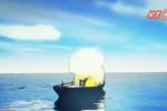 Clip: Nổ tàu cá gần đảo Phú Quý, 3 thuyền viên mất tích