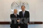 Tổng Bí thư trao đổi với Tổng thư ký LHQ về vấn đề ở Biển Đông