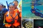 Du khách Trung Quốc tàn sát sinh vật biển Hoàng Sa
