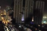 Video: Khói đen nghi ngút vây hãm tòa nhà cháy ở khu đô thị Xa La