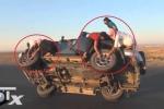 Choáng với clip vừa lái ô tô, vừa thay lốp 'đậm chất' Ả-rập Xê-út