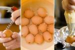 Cách làm bánh bông lan trong vỏ trứng vô cùng dễ thương