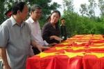 An táng 74 hài cốt liệt sĩ chôn trong khu mộ tập thể