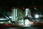 Clip tòa nhà cao tầng đổ sụp trong chốc lát