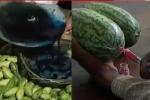 Clip: Rùng mình cảnh gian thương nhuộm xanh dưa chuột, nhuộm đỏ dưa hấu