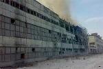 Video cháy lớn tại nhà máy hợp kim ở Nga