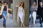 Áo khoác dài lên ngôi trên đường phố Hollywood mùa thu