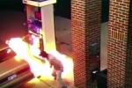 Clip: Dùng bật lửa để giết nhện, đốt luôn trạm xăng