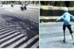 Clip: Nắng nóng hơn 120°F khiến nhựa đường tan chảy ở Ấn Độ