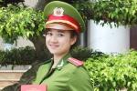 Vẻ đẹp rạng ngời của nữ sinh cảnh sát trong lễ tốt nghiệp