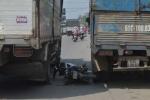 Va chạm với 2 xe tải, nam thanh niên chết thảm