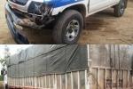 Xe quá tải rú ga vượt trạm cân, tông hỏng xe cảnh sát giao thông