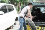 Hà Nội: Kẻ chuyên trộm bánh xe ô tô sa lưới