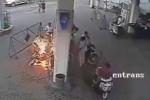 Clip: Hãi hùng gặp 'bà Hỏa' vì dùng điện thoại trong trạm xăng