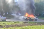 Clip: Ôtô bốc cháy nổ như bom