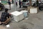 Cây ATM bị trộm phá tung giữa thủ đô