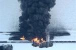 Ảnh: Hai tàu hỏa đâm nhau gây nổ lớn