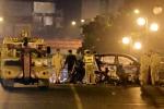 Taxi đâm liên hoàn trên cầu vượt Thái Hà: Chồng tử vong, vợ nguy kịch