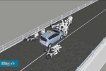 Video 3D mô phỏng tai nạn thảm khốc trên cầu vượt Thái Hà