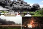 Chùm clip: Loạt vụ cháy khủng khiếp khiến dân khốn đốn trong Ngày hạnh phúc