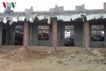 Sập công trình nhà văn hoá thôn, 9 người bị thương
