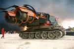 Xe tăng chữa cháy dùng động cơ máy bay MIG 21