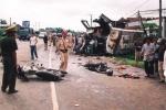 Tông xe tải, 2 công an tử vong