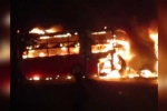 Clip: Xe khách giường nằm bốc cháy dữ dội, nhiều người chết ở Bình Thuận