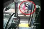 Clip: Tài xế xe buýt cuống cuồng dừng xe cứu thiếu nữ định nhảy cầu
