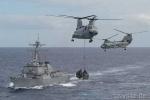 Tàu chiến Mỹ đã đi qua khu vực đá Xu Bi thuận lợi