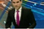 Clip: Động đất kinh hoàng, BTV truyền hình tháo chạy khỏi trường quay