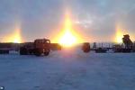 Video: 3 mặt trời xuất hiện ngoạn mục trên bầu trời Nga