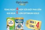Khuyến mãi Sữa bột Optimum - Mua 1 tặng 4