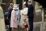 Ngắm thời trang Hoàng gia Anh trong lễ rửa tội cho Công chúa nhỏ
