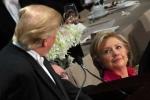 Ăn tối cùng nhau, Trump lại gây hấn với Clinton