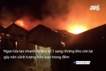 Video: Lửa ngùn ngụt cháy trong kho Cảng Sài Gòn