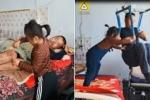 Mẹ bỏ đi, bé gái 6 tuổi một mình chăm sóc cha tàn tật