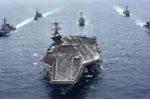 Siêu tàu sân bay hạt nhân Mỹ lên đường đến Thái Bình Dương