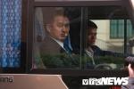 Ảnh: Đoàn xe chở nhân viên an ninh Triều Tiên về khách sạn Melia ở Hà Nội