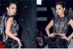 'Boom sexy' Quỳnh Thy gây tranh cãi bởi bộ cánh 'gai cột sống' tại Tuần lễ thời trang
