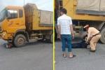 Một chiến sĩ cảnh sát PCCC bị xe tải tông trọng thương