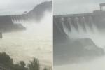 Video: Nước về cuồn cuộn, thủy điện Hòa Bình tức tốc xả lũ
