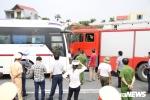 Ảnh: Thực nghiệm hiện trường tai nạn kinh hoàng giữa xe cứu hỏa - xe khách trên cao tốc Pháp Vân