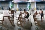 Clip: Bộ bàn ghế thông minh biết 'biến hình' ở Tiền Giang