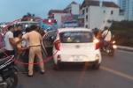 Trung tá CSGT Hà Nội bị xe máy chở 3 tông trọng thương: Tin mới nhất