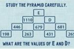 Đáp án bài toán kim tự tháp lớp 3 của bạn có giống thế này?