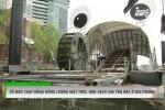 Cận cảnh cỗ máy dọn sạch 500 tấn rác chạy bằng năng lượng mặt trời