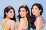 Đỗ Mỹ Linh, Thanh Tú và Thùy Dung diện bikini đọ dáng nóng bỏng