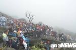 Dòng người kẹt cứng trên đỉnh Yên Tử ngày khai hội