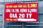 Video: Miếng đất 5,3m² rao bán giá 20 tỷ đồng ở Hà Nội gây xôn xao dư luận